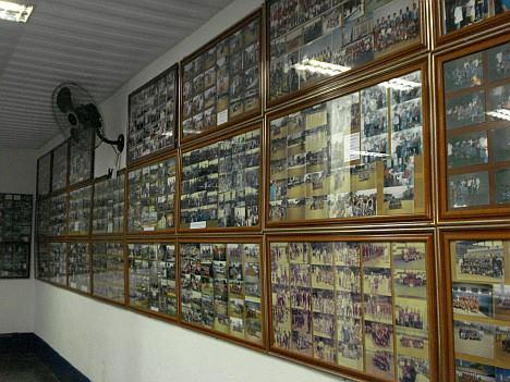 Impecável quadros de fotos na Sala de troféus do Santa Marina (foto: Acervo/SMAC)